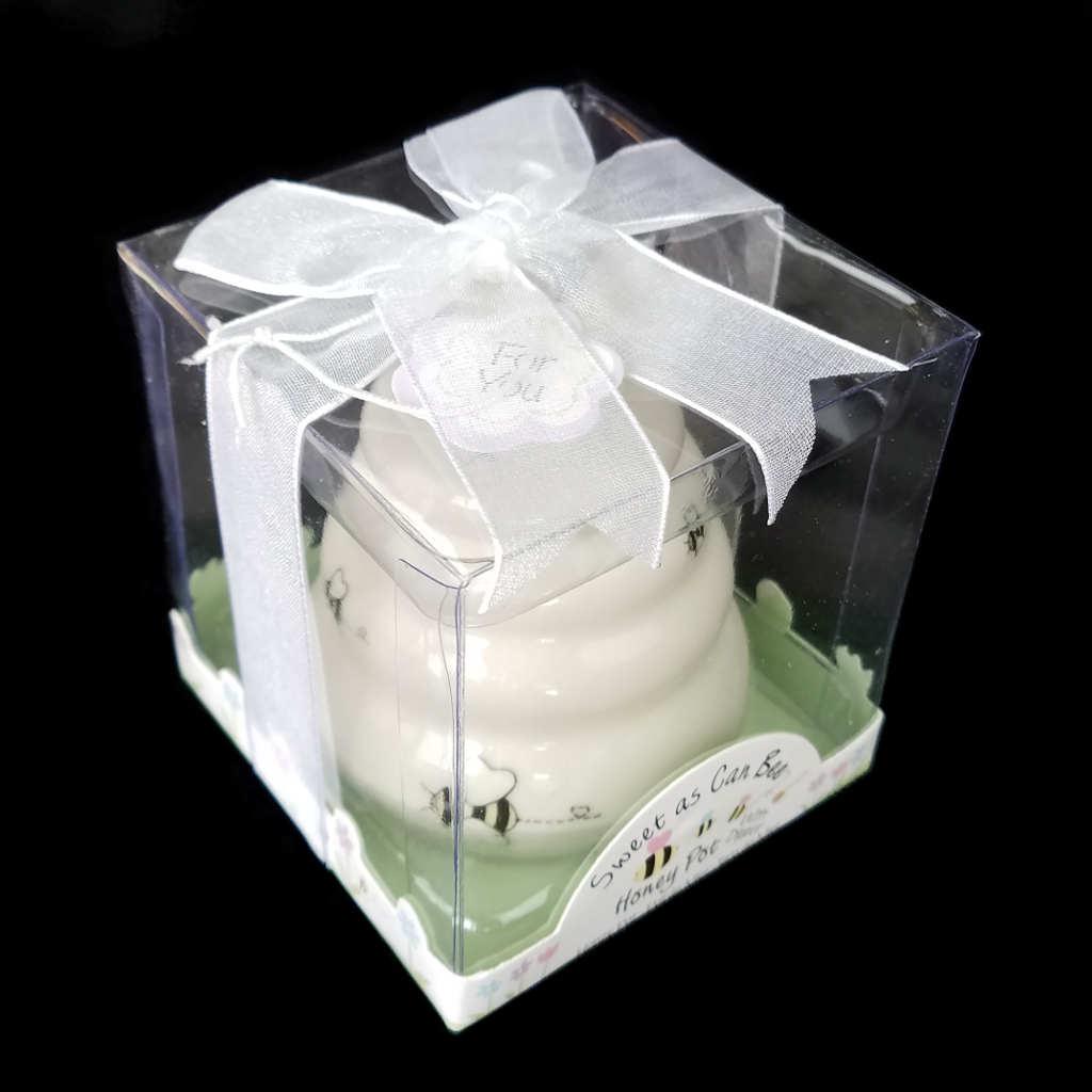 White Mini Honey Pot – BeeManiacs